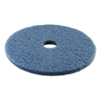 Boardwalk Standard 20-Inch Diameter Scrubbing Floor Pads, Blue