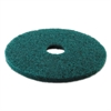 Boardwalk Standard 17-Inch Diameter Heavy-Duty Scrubbing Floor Pads, Green