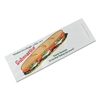 Bagcraft Submarine Sandwich Bags, 4 1/2 x 2 x 14, White Preprinted Submarine, 1000/Carton