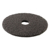 "Standard High Performance Stripping Floor Pads, 17"" Diameter, Black, 5/Carton"