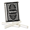 Quartet Alpha White Chalk, Low-Dust, 12 Sticks/Pack