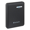 Verbatim Dual USB Power Pack Charger for Mobile Devices, 12000mAh Battery Capacity, Black