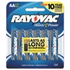 Rayovac High Energy Premium Alkaline Battery, AA, 12/Pack