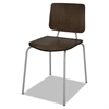 Linea Italia Trento Line Sienna Stacking Wood Chair, Mocha, Stacks 6 High, 2/Carton