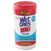 "Wet Ones Wet Ones Big Ones Antibacterial Wipes, 4 1/2"" x 8"", White, 65 Wipes, 6 Boxes/CT"