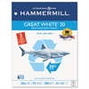Great White Recycled Copy 3-Hole Punched, 92 Brightness, 20lb, Letter, 5000/Ctn