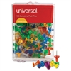"Universal Colored Push Pins, Plastic, Gemstone, 3/8"", 100/Pack"