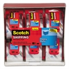 "Scotch 3850 Heavy-Duty Packaging Tape in Sure Start Disp., 1.88"" x 800"", Clear, 6/Pack"