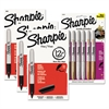 Sharpie Fine Point Permanent Marker Kit, Black/Assorted Metallic Colors, 42/Kit