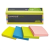 Self-Stick Notes, 3 x 3, Assorted Neon Colors, 100-Sheet, 12/Pack