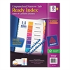 Avery Ready Index Customizable Table of Contents, Unpunched, 8-Tab, Ltr, 5 Sets