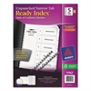 Avery Ready Index Customizable Table of Contents, Unpunched, 5-Tab, Ltr, 5 Sets