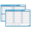 90/120-Day Undated Horizontal Erasable Wall Planner, 36 x 24, White/Blue,