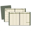 Recycled Weekly/Monthly Classic Appointment Book, 8 1/4 x 10 7/8, Green, 2017