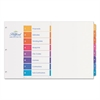 Ready Index Customizable Table of Contents Multicolor Dividers, 8-Tab, 11 x 17