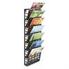 Safco Grid Magazine Rack, Seven Compartments, 9-1/2w x 5-1/2d x 29-1/2h, Black