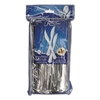 "Reflections Heavyweight Plastic Utensils, Knife, Silver, 7 1/2"", 40/Pack"