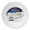 "Classicware Plastic Dinnerware Plates, 6"" Dia, White, 12/Pack"