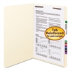 Folders, One Fastener, Straight Cut, Top Tab, Legal, Manila, 50/Box