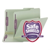 Two Inch Expansion Fastener Folder, 2/5 Tab, Letter, Gray Green, 25/Box
