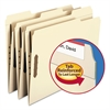 Smead Folders, Two Fasteners, 1/3 Cut Assorted Top Tabs, Letter, Manila, 50/Box