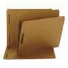 Smead Kraft K Style Fastener Folders, Straight Cut, Top Tab, Letter, Brown, 50/Box