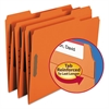 Folders, Two Fasteners, 1/3 Cut Assorted Top Tabs, Letter, Orange, 50/Box