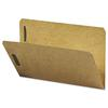 Kraft K Style Fastener Folders, Straight Cut, Top Tab, Legal, Brown, 50/Box