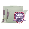 Smead One Inch Expansion Fastener Folder, 2/5 Top Tab, Legal, Gray Green, 25/Box
