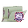 Smead Two Inch Expansion Fastener Folder, 2/5 Right Tab, Legal, Gray Green, 25/Box
