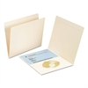 File Folders with Media Pocket, Straight Top Tab, Letter, Manila, 50/Box