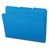 Waterproof Poly File Folders, 1/3 Cut Top Tab, Letter, Blue, 24/Box