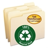 Two-Ply File Folders, 1/3 Cut Top Tab, Letter, Manila, 100/Box