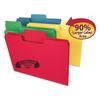 "SuperTab Heavyweight Folder, 1/3 Tab, 3/4"" Exp., Letter, Assorted, 50/BX"