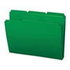 Smead Waterproof Poly File Folders, 1/3 Cut Top Tab, Letter, Green, 24/Box