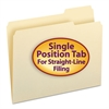 File Folders, 1/3 Cut Third Position, One-Ply Top Tab, Letter, Manila, 100/Box