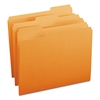 File Folders, 1/3 Cut Top Tab, Letter, Orange, 100/Box
