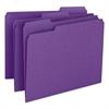 Smead File Folders, 1/3 Cut Top Tab, Letter, Purple, 100/Box
