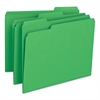 Smead File Folders, 1/3 Cut Top Tab, Letter, Green, 100/Box