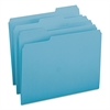 Smead File Folders, 1/3 Cut Top Tab, Letter, Teal, 100/Box