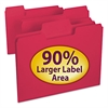 Smead SuperTab Colored File Folders, 1/3 Cut, Letter, Red, 100/Box