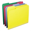 WaterShed/CutLess File Folders, 1/3 Cut Top Tab, Letter, Assorted, 100/Box