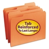 Smead File Folders, 1/3 Cut, Reinforced Top Tab, Letter, Orange, 100/Box
