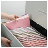 File Folders, 1/3 Cut Top Tab, Letter, Pink, 100/Box