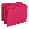 Smead File Folders, 1/3 Cut Top Tab, Letter, Red, 100/Box