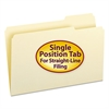 File Folders, 1/3 Cut Third Position, One-Ply Top Tab, Legal, Manila, 100/Box
