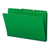Recycled Folder, One Inch Expansion, 1/3 Cut Top Tab, Legal, Green, 25/Box