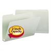 Recycled Folders, Two Inch Expansion, 1/3 Top Tab, Legal, Gray Green, 25/Box