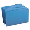 File Folders, 1/3 Cut Top Tab, Legal, Blue, 100/Box