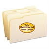 File Folders, 1/3 Cut Assorted, Reinforced Top Tab, Legal, Manila, 100/Box